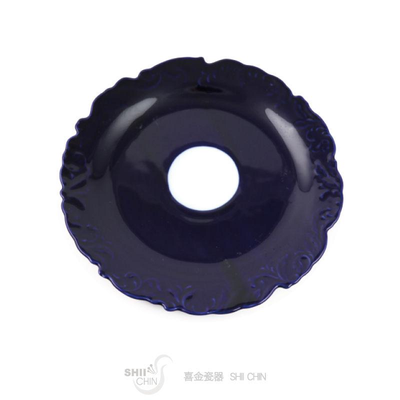 藍寶釉1-14  10吋平盤