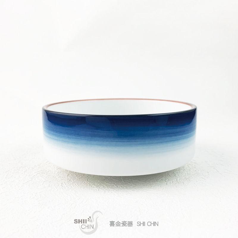 夢之藍系列-4.5吋歐式斜邊碗